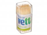 Зубочистки 150шт, бамбук, пластиковая упаковка