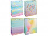 Пакет подарочный, 26х32х10 см, высококачественная бумага с блеском, 4 дизайна