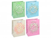 Пакет подарочный, 18х24х8 см, высококачественная бумага с блеском, 4 дизайна