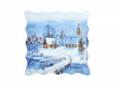Волшебница-Зима Блюдо квадратное, 20см, стекло
