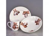 Набор посуды детский 3 предмета гр8 дружок 0839