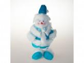 Игрушка тканевая снеговик под елку st14-8034b  27cm