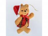 Украшение новогоднее на елку пластик мишка yb-520-1742 с-24