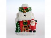 Сувенир новогодний 10см керамика с батарейкой bx14225 к-43