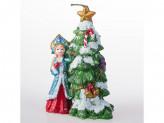 Свечка парафин снегурочка с ёлкой 13093 14см упаковка 2шт