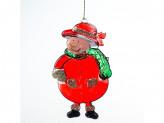 Украшение новогоднее на елку 10см пластм bw13-088 упаковка 80