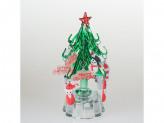 Сувенир новогодний елка с подсветкой 12см стекло р-52