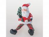 Сувенир новогодний дед мороз,ножки болтаются керамика 9см вх12011-1