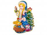 Наклейка новогодняя бумажная  bj22-4 36cm
