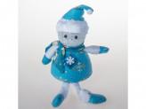 Сувенир дед мороз ножки болтаются 21см пенопласт+ткань с подсветкой