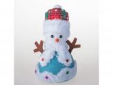 Сувенир снеговик 22см пенопласт 3 с подсветкой