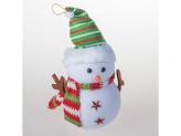 Сувенир снеговик 26см пенопласт 2