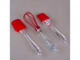 Набор силикон 3 предмета лопатка ,венчик,кисточка cci-yt 23