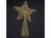 Новогоднее украшение на елку пластик звезда of18219 18 35