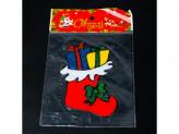 Наклейка новогодняя силиконовая 12x14см w015