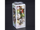 Новогоднее украшение на елку пластик упаковка 20шт lh113-345 18 51