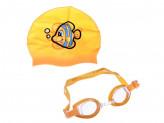 BESTWAY Набор для плавания детский: очки, шапочка, силикон, ПВХ, поликарбонат,