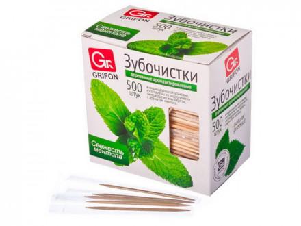 Зубочистки из дерева с ментолом 500шт, в инд. п п упаковке,