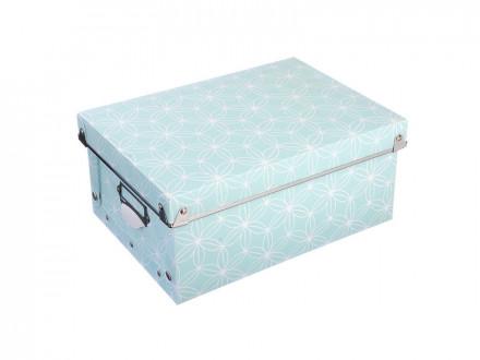 Короб для хранения складной, металлич.рамка, на кнопках, 29,7х21,8х12,5см, пластик, 2 дизайна