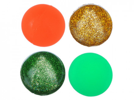 Мячик каучуковый Попрыгун, цветной, каучук, d-45мм, 4 дизайна