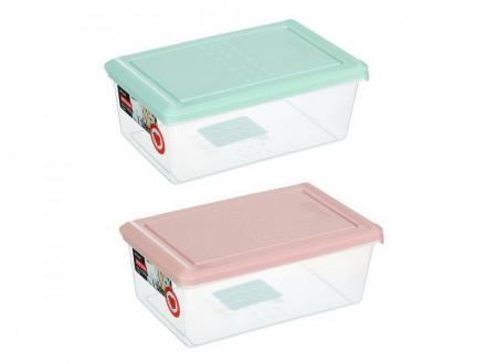 Емкость для хранения продуктов PATTERN, прямоугольный, 1,05л, пластик, цвета: мята, пудра