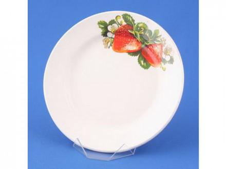 Тарелка десертная 20,0см КЛУБНИКА НОВАЯ С056