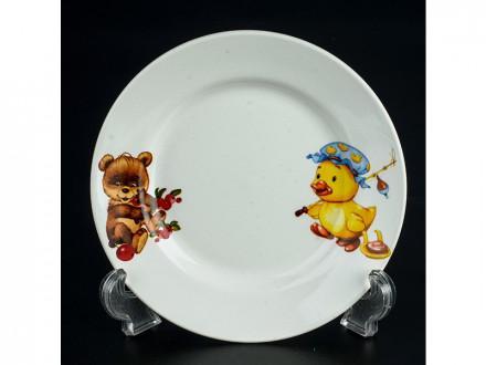 Тарелка 175 мел гр8 утенок, медвежонок уп/36