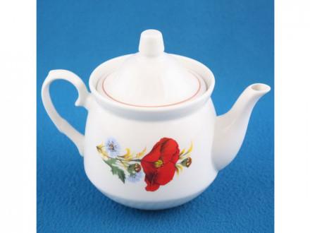 Чайник 0,55л для заварки КИРМАШ Маки красные