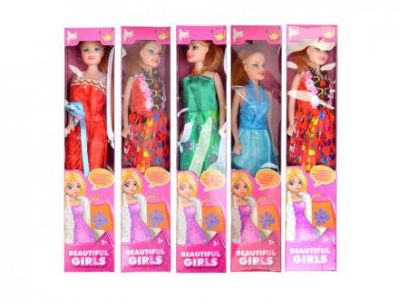 Кукла 29см, пластик, полиэстер, 4 дизайна