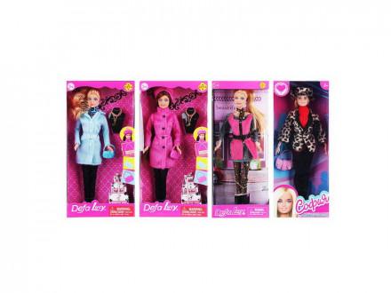 Кукла в теплой одежде, 29см, пластик, полиэстер, 4 дизайна