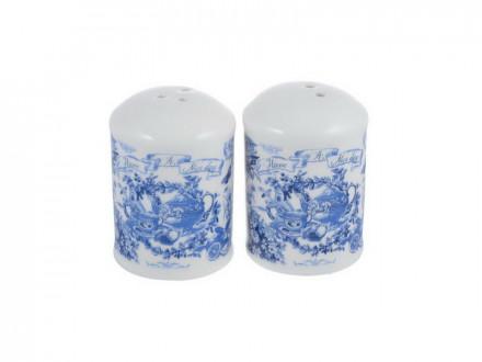 Набор для соли и перца, 4x4х7см, керамика MILLIMI Гравюра