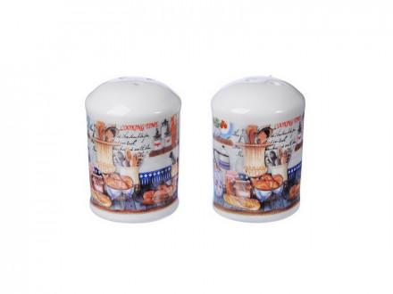 Набор для соли и перца, 4x4х7см, керамика MILLIMI Хлеб