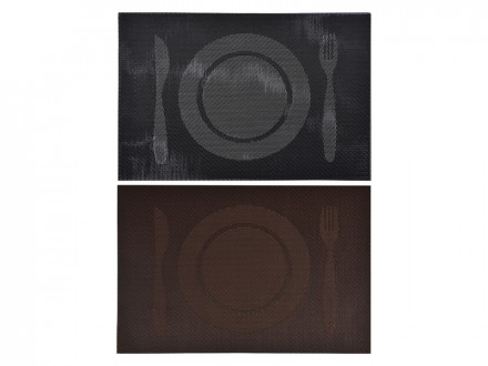 """Салфетка сервировочная ПВХ, 30x45см, 2 цвета, """"Меню"""""""