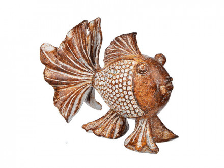 Фигурка в виде рыбы, 11х9, 5 см, полистоун