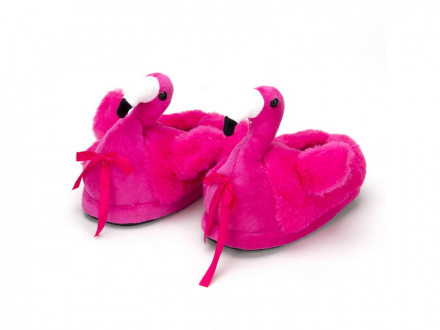 Тапочки в форме фламинго, полиэстер, 22х22см детские