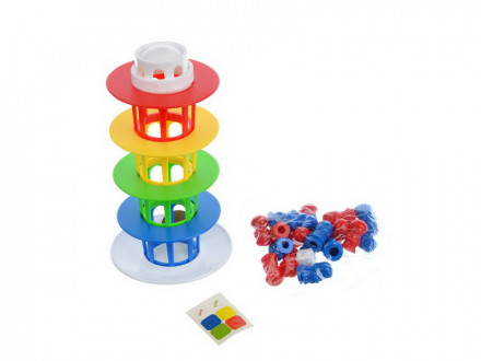 Настольная игра Баланс: Лестницы/Башня, пластик, 14,4х19,5х3,4см, 2 дизайна