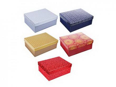 Коробка подарочная складная с фольгированным слоем, бумага, 5 цветов