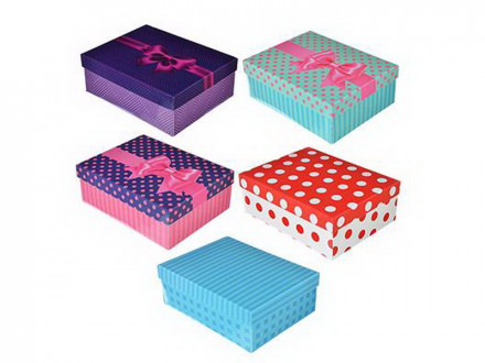 Коробка подарочная складная, бумага, 5 цветов