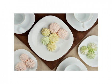 Bormioli Parma Тарелка десертная опаловое стекло, 20x20см