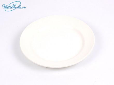 Тарелка мелкая 200 мм белая.