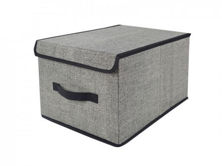VETTA Кофр для хранения с крышкой, 30х40х25см, искусственный лен