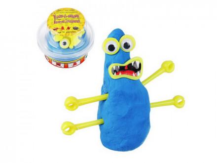 МонстроЛизун, в комплекте: глазки, ручки, зубы, 55-65гр, полимер, пласт, 8, 5х6, 5см, 4 цвета