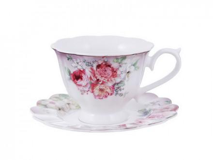 Чайный сервиз 2 предмета  Аллегро 220мл, костяной фарфор