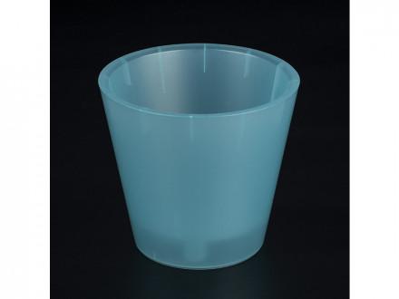 Горшок для цветов пластик 200 фиджи 4л голубой перламутровый 6197