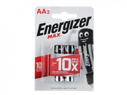 "Батарейки Energizer 2шт MАХ ""Alkaline"" щелочная"
