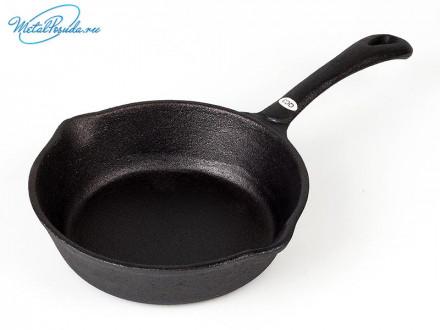 Сковорода 15,5 см чугун (2 слива)  VETTA