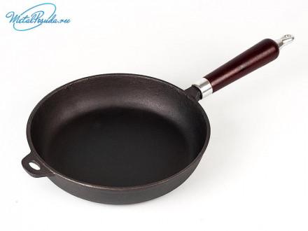 Сковорода 24 х 5 см чугун   VETTA