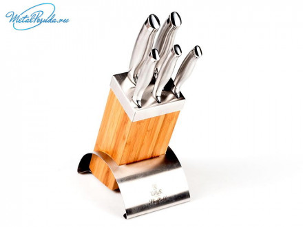 Набор ножей 6 пр с подставкой Taller Шеффилд