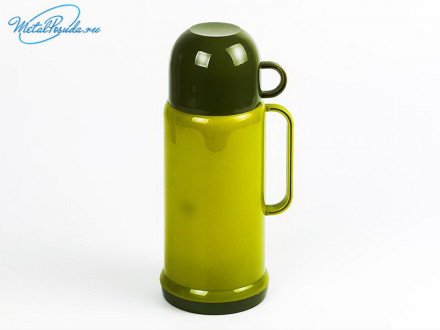 Термос 600 мл Tourist, чашка, стеклянная колба, 4 цвета