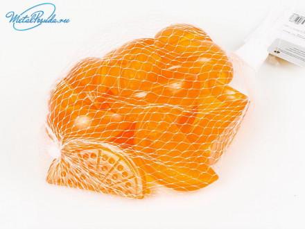 """Лёд многоразовый 15 шт """"Дольки апельсина"""" в сетке"""